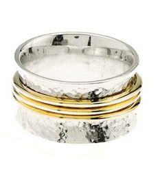 Georgous hammered sterling silver ring