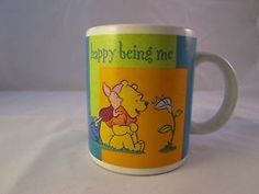 Disney Winnie The Pooh & Piglet Ceramic Coffee Mug Happy Being Me 10 oz Cup