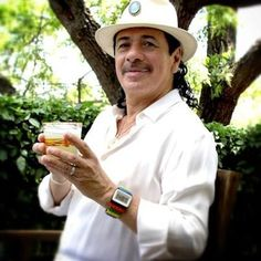 Carlos Santana birthday with his favorite Margarita