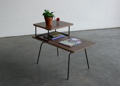 Vintage Mid Century Modern Wire Rod Side Table