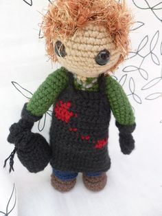 I need to learn to crochet so I can make this dexter Morgan doll