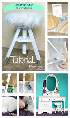 Jonathan Adler Inspired Stool Tutorial