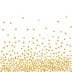 Abstract pattern of random golden dots on white  background. Elegant pattern for background, textile, paper packaging and other design. Vector illustration.