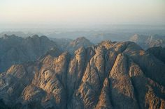 Sunset view from mountain Sinai (2285m), Egypt