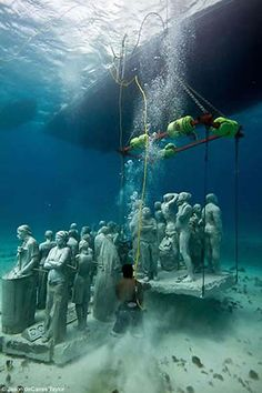 Going back for more~Underwater sculptures by Jason De Caires Taylor.  Simply amazing.