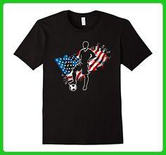 Mens USA Soccer Ball Player Patriotic 4th of July t shirt Large Black - Holiday and seasonal shirts (*Amazon Partner-Link)