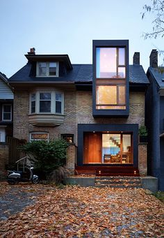 ARCHITECTURE: ~ Renovation of a semi-detached home in Toronto: House in the Beach by Drew Mandel Architects Architecture Design, Classical Architecture, Amazing Architecture, Sustainable Architecture, Landscape Architecture, Architecture Today, Minimalist Architecture, Ancient Architecture, Contemporary Architecture