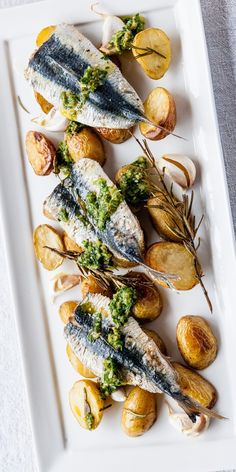 Sardines possess an intense rich flavour making them the perfect foil to a sprightly salsa verde in this Mediterranean-inspired dish from Shaun Hill. Grill the sardines for a crispy skin.