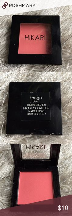Hikari Blush Hikari Cosmetics Blush in Tango. This is a .21 oz size palette. Used once to swatch as shown in picture. Makeup Blush