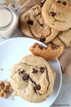 Peanut Butter Cookies with Dark Chocolate Chips