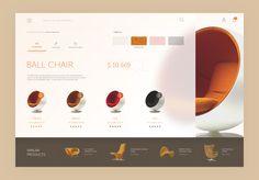 Furniture web interface - Furniture web interface by Nick Buturishvili – Dribbble - Web Layout, Layout Design, Webdesign Layouts, Ui Website, Presentation Layout, Menu, Design Web, Graphic Design, Interface Design