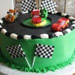 Lightning McQueen birthday cake.