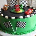 Lightning McQueen birthday cake.