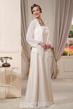 e370defd2670 Beaded A-Line Strapless Floor-Length Mother of the Bride Dress with Jacket  Jacket