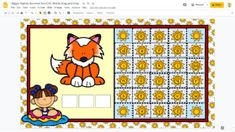 Giggly Games Summer Fun CVC Words Drag and Drop GOOGLE SLIDES Distance Learning File Folder Games, Cvc Words, Early Childhood Education, Learning Centers, Special Education, Language Arts, Summer Fun, Distance, Kids Rugs