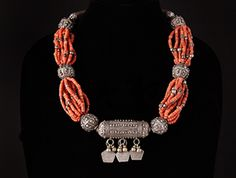 Coral Trade Bead  Necklace from Yemen $1750 at Africa and Beyond.com