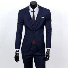 Men's Slim Fit Business Three-Piece Suit