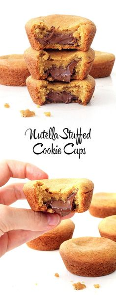 Amazing Nutella Stuffed Cookie Cups! You NEED to make these for all your Nutella loving friends! So easy too | Sweetest Menu