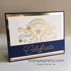 Birthday Blast stamp set birthday card.  Mary Fish, Stampin' Up! Demonstrator.  1000+ StampinUp & SUO card ideas.  Read more http://stampinpretty.com/2016/12/rosanne-12-1.html