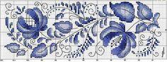 Błękitny haft krzyżykowy | Haft krzyżykowy - inspiracje i wzory