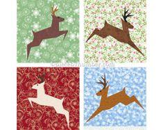 Santa quilt pattern paper piecing quilt by PieceByNumberQuilts