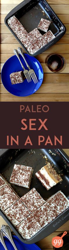 Paleo Sex in a Pan Recipe plus 24 more of the most popular pinned Paleo recipes: (paleo dessert thermomix) Paleo On The Go, How To Eat Paleo, Going Paleo, Paleo Sweets, Paleo Dessert, Healthier Desserts, Dessert Recipes, Sex In A Pan Recipe, Paleo Life