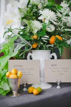 #fruit  Event Coordination: Lizze Belle Events - lizzebelle.com/ Photography: The Nichols - jnicholsphoto.com Flowers + Event Design: The Nouveau Romantics - thenouveauromantics.com/  Read More: http://www.stylemepretty.com/2012/01/26/austin-wedding-by-the-nichols-4/