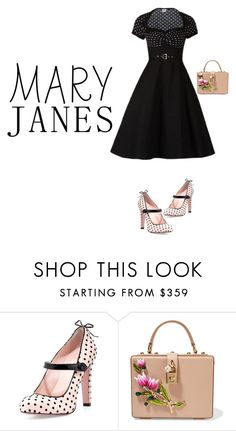 """#maryjanes"" by j-wes ❤ liked on Polyvore featuring RED Valentino and Dolce&Gabbana"