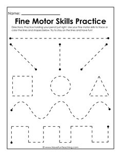 Use this Fine Motor Skills Practice Worksheet to practice fine motor skills, handwriting skills, drawing skills, and how to hold and grasp a pencil. Motor Skills Activities, Toddler Learning Activities, Fine Motor Skills, Time Activities, Preschool Activities, Writing Practice Worksheets, Handwriting Worksheets, Tracing Worksheets, Handwriting Practice
