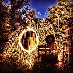 Spinning fire (M'sila, Algeria)