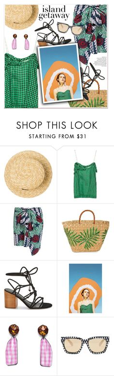 """""""Chic Island Getaway"""" by paculi ❤ liked on Polyvore featuring Vichy, Aranáz, Rebecca Minkoff, MINKPINK, Spring, grid and islandgetaway"""