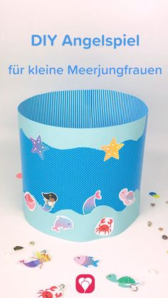 - Meerjungfrau Angelspiel selber machen – balloonas DIY Angelspiel selber machen f - Birthday Basket, Diy Birthday, Christmas Gift Baskets, Christmas Diy, Fishing Videos, Woodland Party, Imaginative Play, For Your Party, Diy Crafts Videos