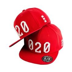 Mokum Made cap serie) Red/White Snapback Cap, One Size Fits All, Red And White, Street Wear, Skateboards, Skulls, Birthday Ideas, Color, Colour