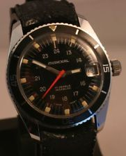 a7dc9eda2fe Vintage MIREXAL 17 Jewel Diver s Swiss Watch - 24 Hour Dial ...