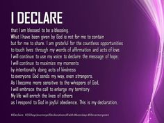 I Declare. by Joel Osteen. Blessed to be a blessing Prayer Verses, Faith Prayer, Bible Verses Quotes, Faith Quotes, Life Quotes, Scriptures, Everyday Prayers, Mom Prayers, Morning Prayers