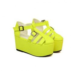 $15.93 Stylish Women's Platform Shoes With Buckle and Openwork Design