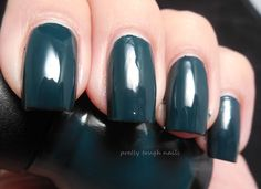 Sinful Colors Calypso. On my nails right now! love this dark forest green color