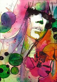 "Saatchi Online Artist: Valentina De Chirico; Watercolor, 2013, Painting ""GAGA"""
