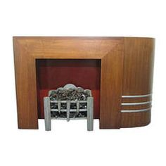 Spectacular Streamline Art Deco Fireplace Mantel