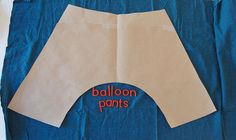 Sarouel Pants easy pattern