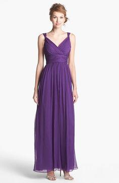 Pretty for a bridesmaid's dress  [ Donna Morgan 'Amy' Crinkled Silk Chiffon Dress ]