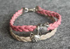 kitty / frog bracelet
