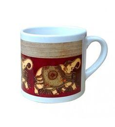 Elephant Design Kalamkari Mugs