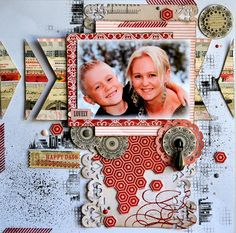 So much details in this layout. Great inspiration for digital scrapbooking for sure. So many elements to use and get ideas from.
