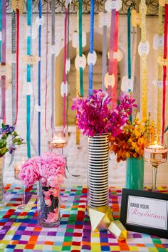 Colorful Kate Spade Inspired NYE Ideas - www.theperfectpalette.com - Caitlin Thomas Photography, {SHE} Shayla Hawkins Events, Floral by Mocha Rose Floral and Event Design