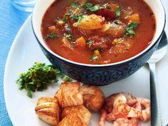 Fisksoppa med tillbehör Receptbild - Allt om Mat