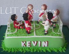 River vs argentinos junior - Torta Decorada River Plate vs. Argentinos Junior