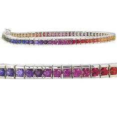 8ct Multicolor Rainbow Sapphire Tennis Bracelet by RainbowSapphire, $669.00