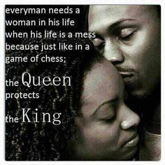 ...the queen protects the king.
