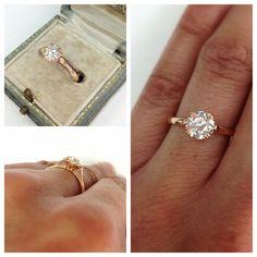 so ideal. a classic and elegant old european cut diamond.